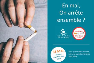 La journée mondiale sans tabac se déroule le 31 mai, nous comptons sur vous !